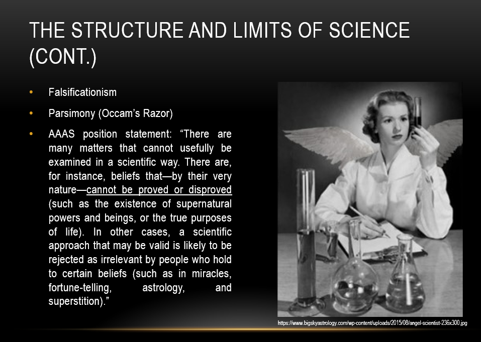 Slide 6: The structure and limits of science (continued)