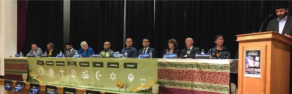 Wide view of interfaith panel