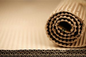 roll of corrugated packaging paper