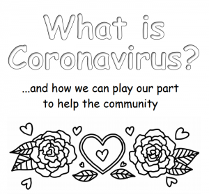 Section of Coronavirus Activity Booklet cover