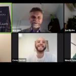 Screenshot of panelists on February Welcome to WE show